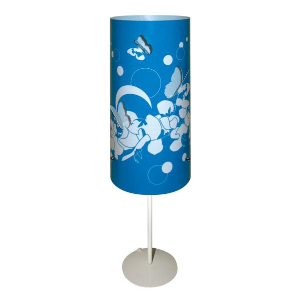 Lampe à pied Fleur Papillon bleu | Lumières du Monde - Paris