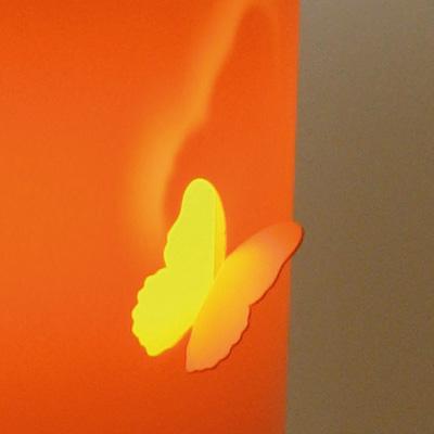 lampe pied fleur papillon double abat jour - Lampe Sur Pied Fleur