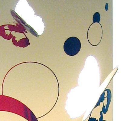 lampe pied fleur papillon multicolor - Lampe Sur Pied Fleur