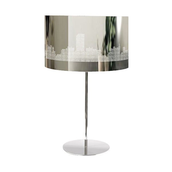 Lampe Sur Pied En Inox Manhattan Lumieres Du Monde Paris
