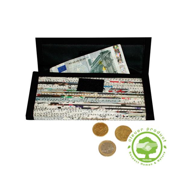 porte monnaie grand en papier recycl roul lumi res du monde paris. Black Bedroom Furniture Sets. Home Design Ideas